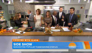 Giada De Laurentiis Thanksgiving Sides on the Today  Show